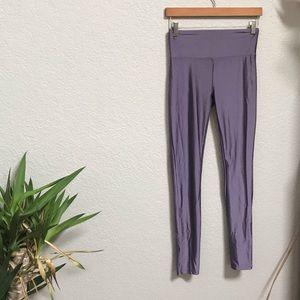 Forever 21 shiny leggings purple & black